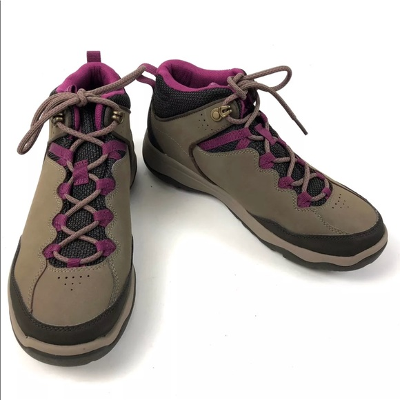 30ce7bb0dbaaf1 Teva Ridge Peak Boots SZ 7 Hiking Brown Purple NEW